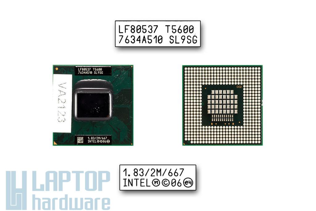 Intel Core 2 Duo T5600 1833MHz használt laptop CPU (SL9U3, SL9SG)
