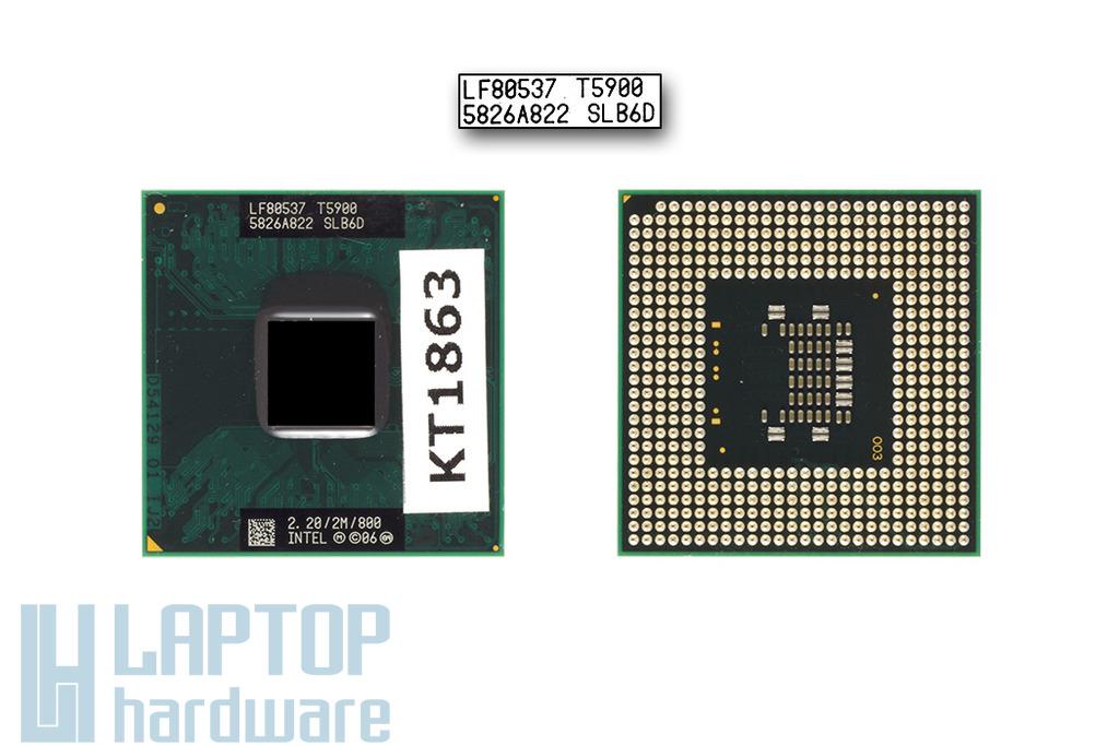 Intel Core 2 Duo T5900 2200MHz használt laptop CPU (SLB6D)