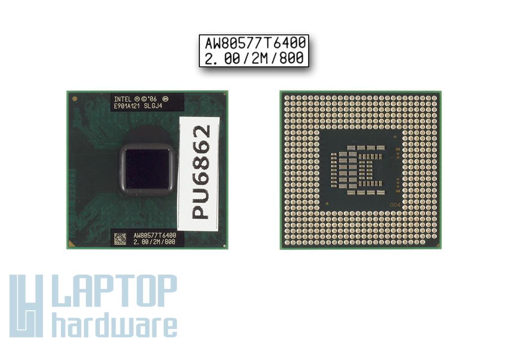 Intel Core 2 Duo T6400 2000MHz használt laptop CPU (SLGJ4)