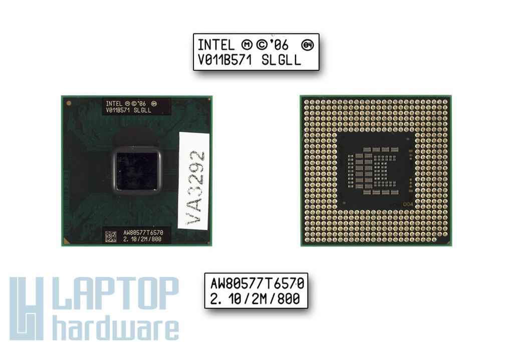 Intel Core 2 Duo T6570 2100MHz használt laptop CPU