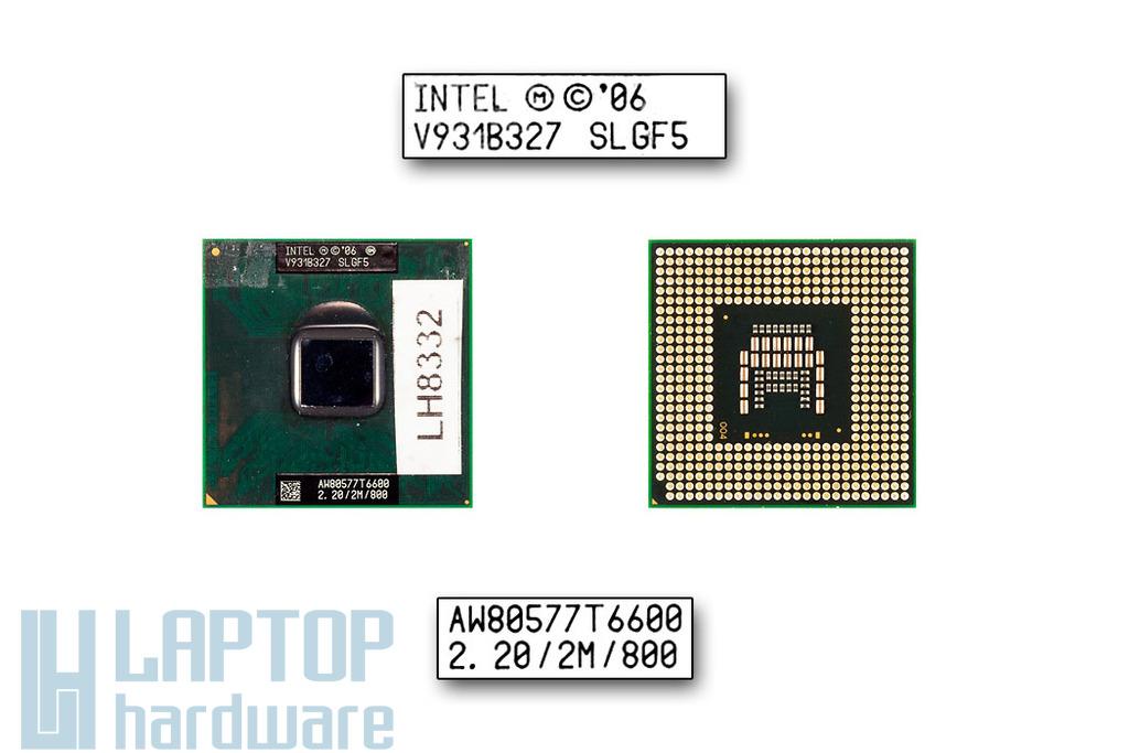Intel Core 2 Duo T6600 2200MHz használt laptop CPU (SLGF5)