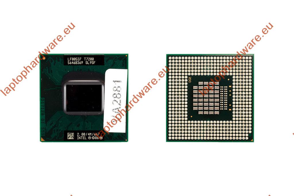 Intel Core 2 Duo T7200 2000MHz használt laptop CPU (SL9SF)