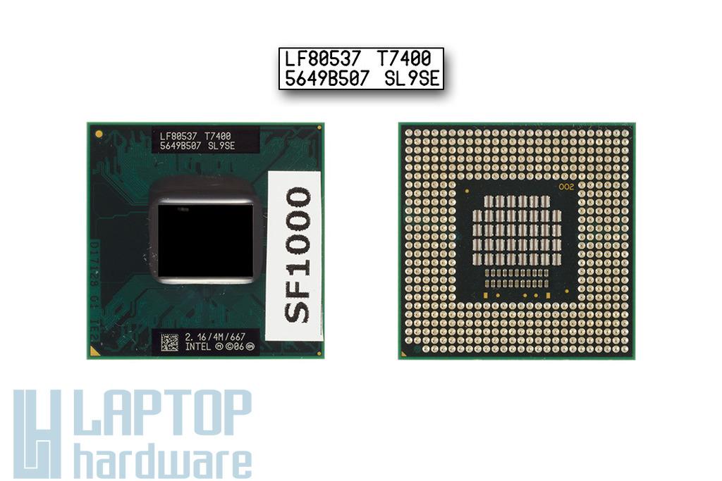 Intel Core 2 Duo T7400 2160MHz használt laptop CPU (SL9SE)