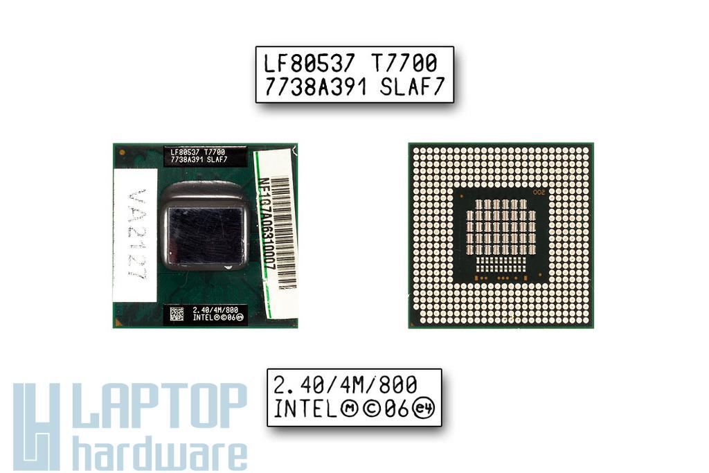 Intel Core 2 Duo T7700 2400MHz használt laptop CPU