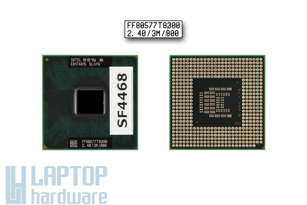 Intel Core 2 Duo T8300 2400MHz használt laptop CPU, SLAYQ