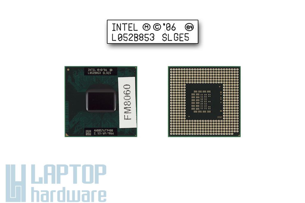 Intel Core 2 Duo T9400 2533MHz használt laptop CPU (SLGE5)