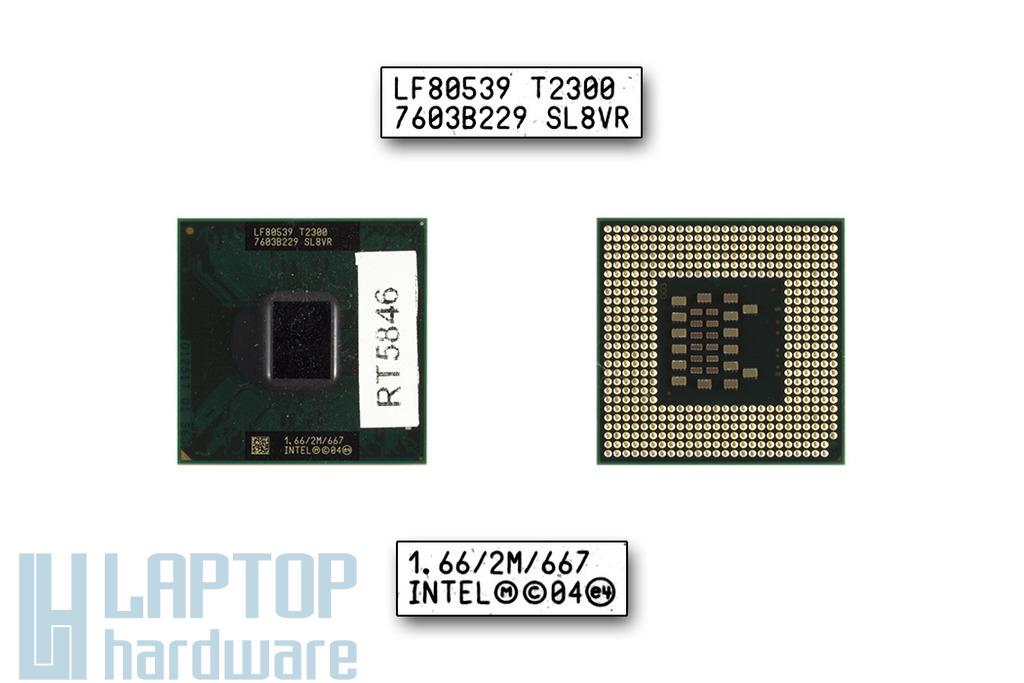 Intel Core Duo T2300 1660MHz használt laptop CPU (SL8VR)