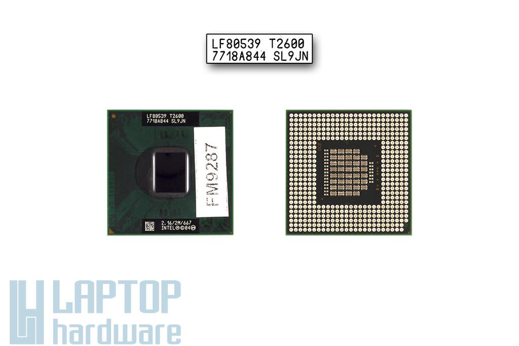 Intel Core Duo T2600 2167MHz használt laptop CPU (SL9JN)