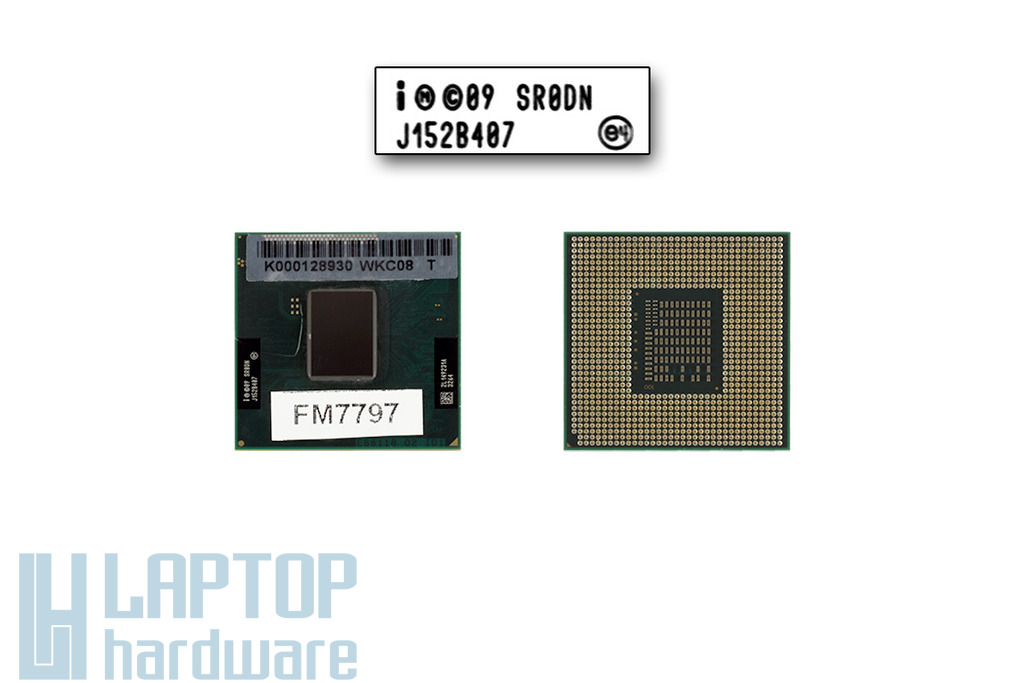 Intel Core i3-2350M 2300MHz használt laptop CPU SR0DN