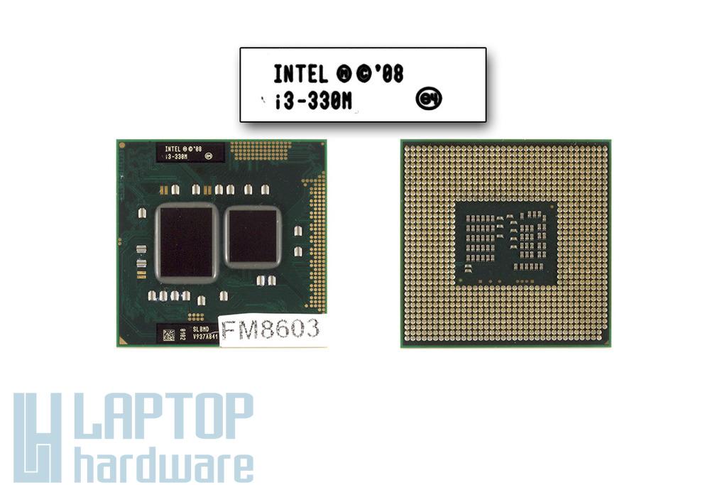 Intel Core i3-330M 2133MHz használt laptop CPU (SLBMD)