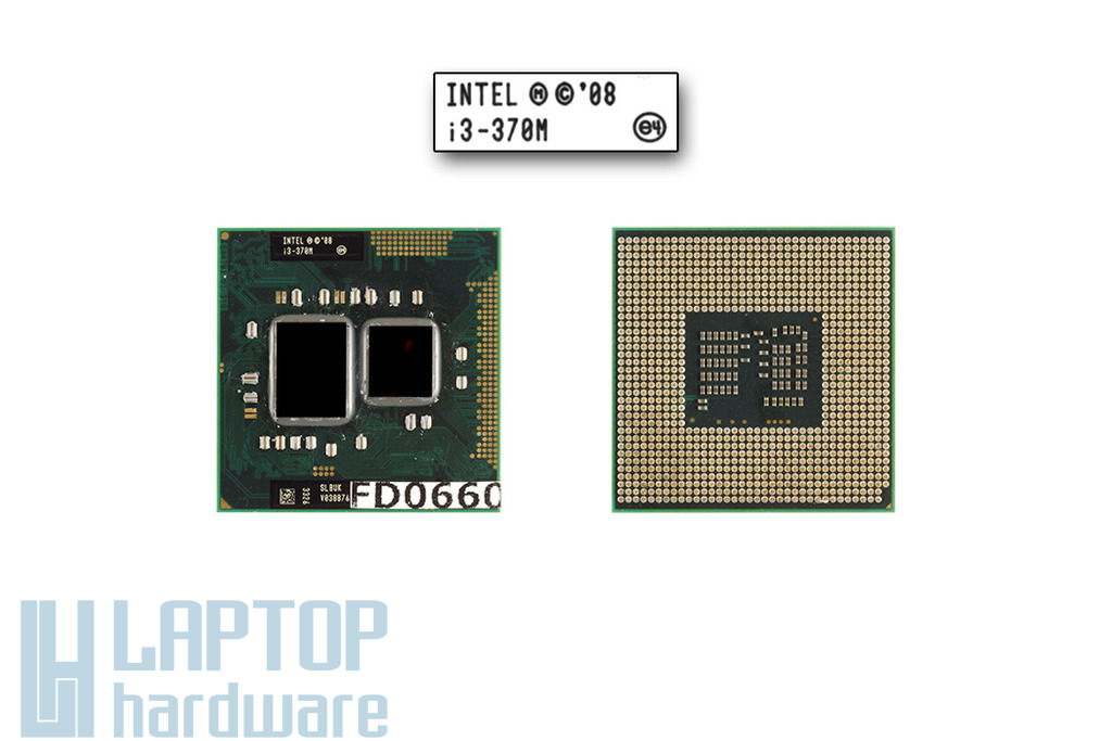 Intel Core i3-370M 2400MHz használt laptop CPU (SLBUK)