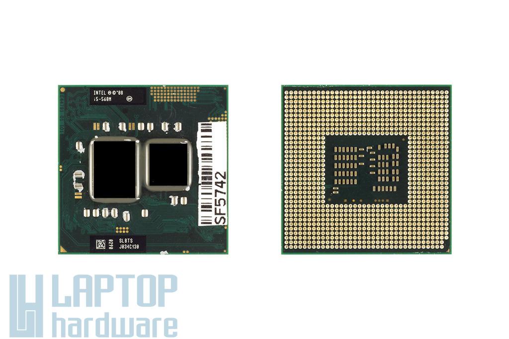 Intel Core i5-560M 2667MHz használt laptop CPU, SLBTS