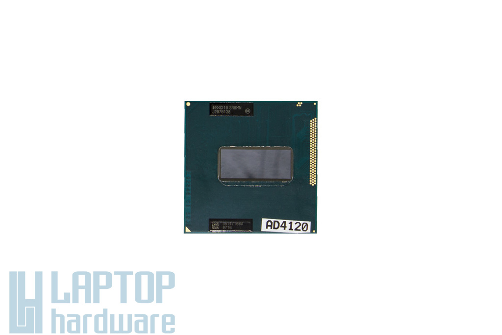 Intel Core i7-3610QM 2300MHz (Turbo: 3300MHz) (45W TDP) használt laptop CPU (SR0MN)