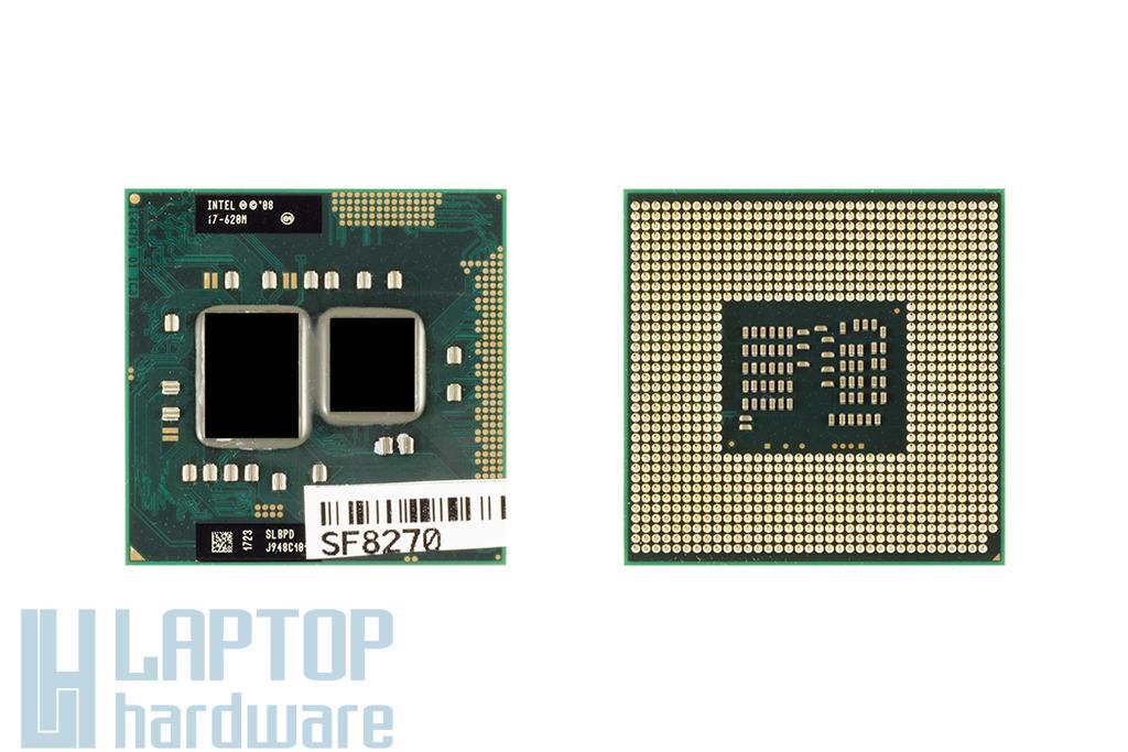 Intel Core i7-620M 2667MHz (Turbo: 3333MHz) használt laptop CPU (SLBPD)