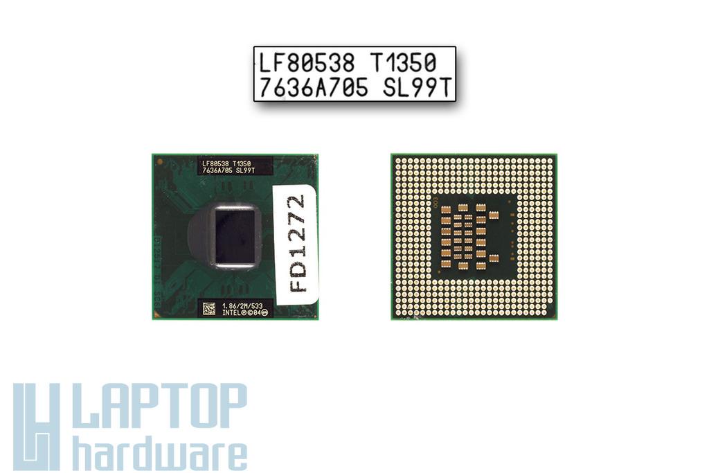 Intel Core Solo T1350 1866MHz használt laptop CPU (SL99T)