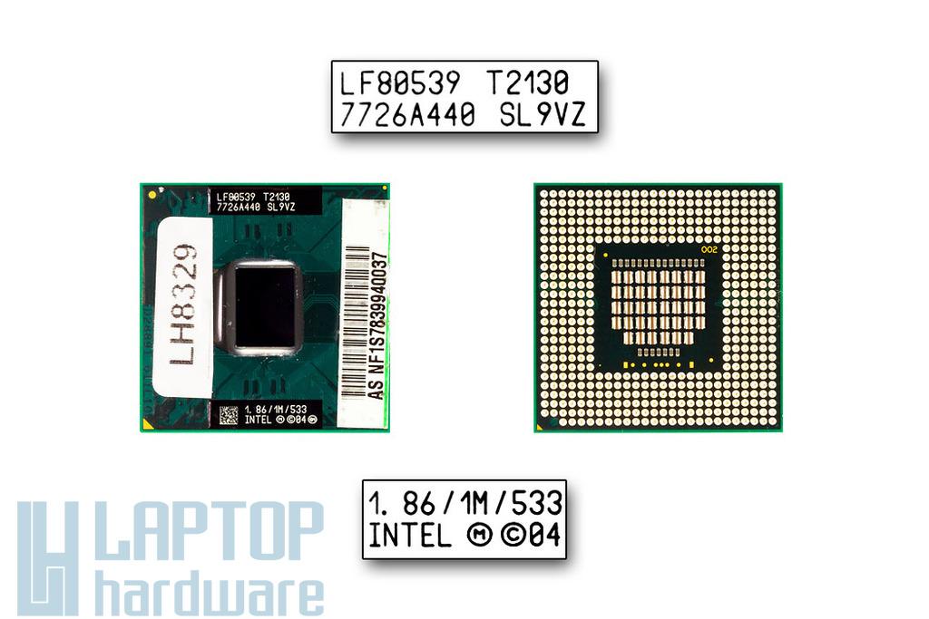 Intel Dual Core T2130 1860MHz használt laptop CPU