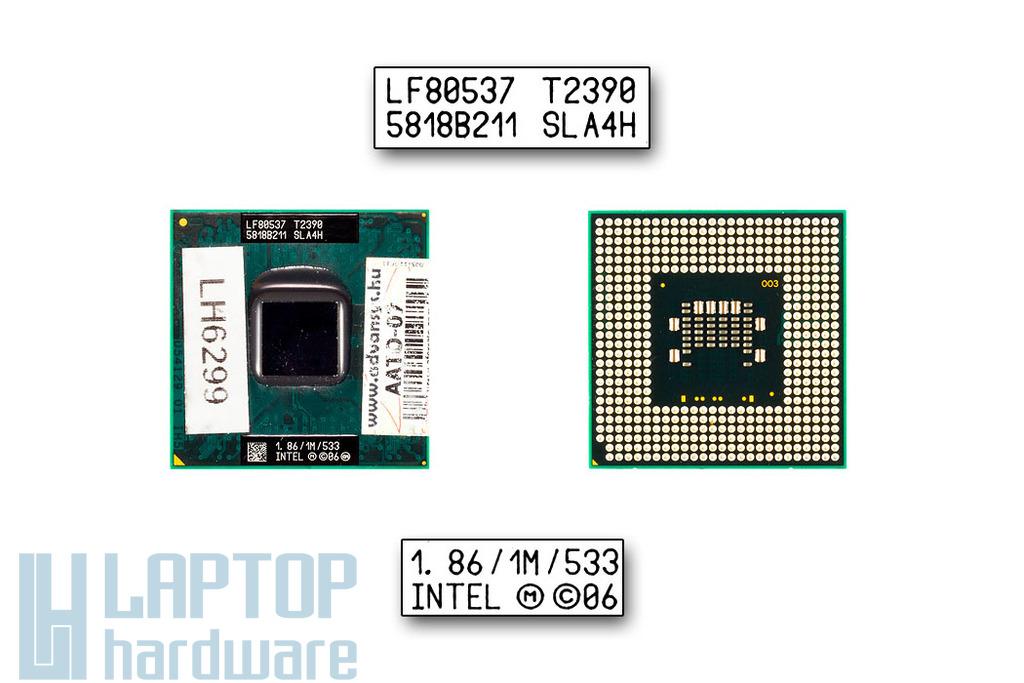 Intel Dual Core T2390 1860MHz használt laptop CPU (SLA4H)