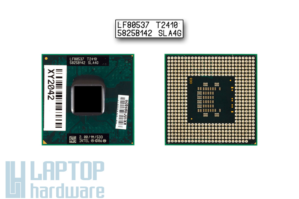 Intel Dual Core T2410 2000MHz használt laptop CPU (SLA4G)