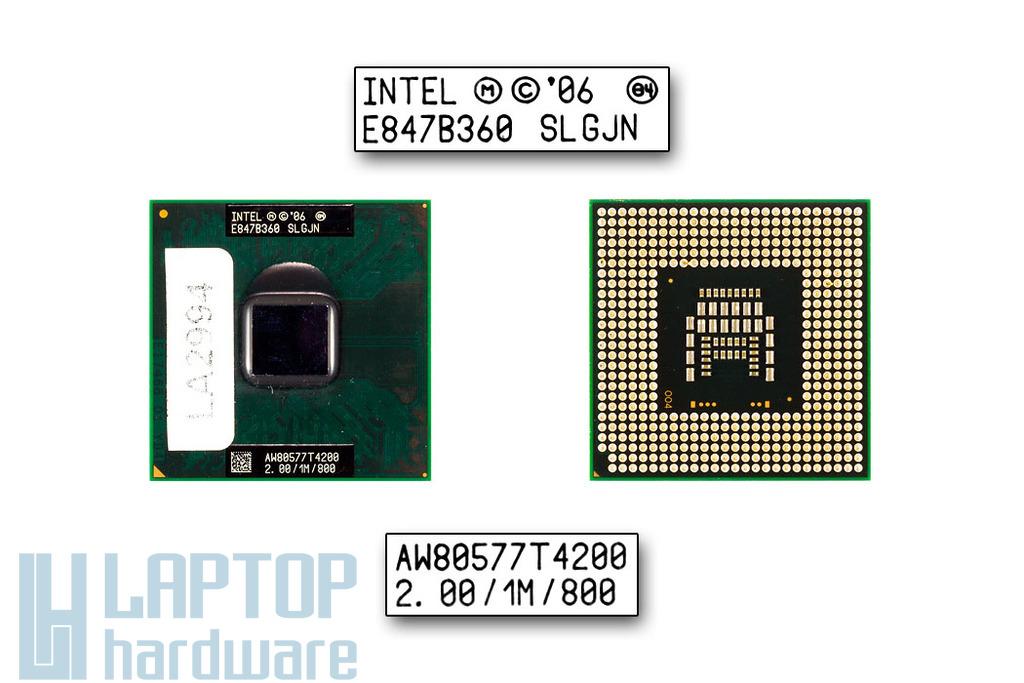 Intel Dual Core T4200 2000MHz használt laptop CPU (SLGJN)