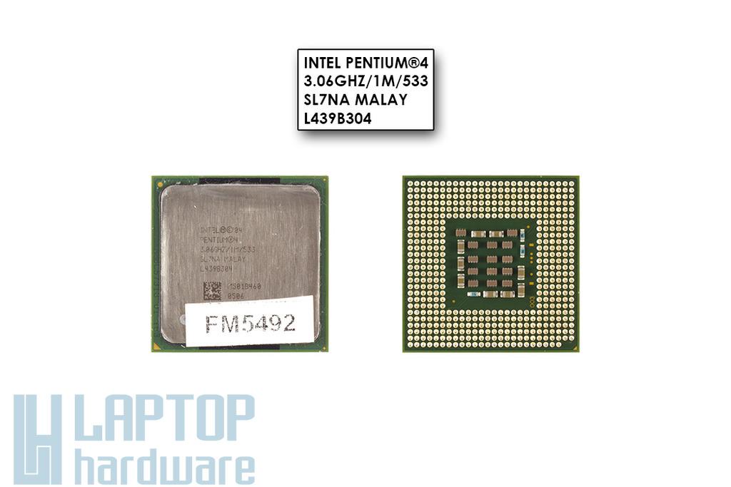 Intel Pentium 4 Desktop 3067MHz (533MHz FSB, 1MB L2 cache) használt laptop CPU (SL7NA)