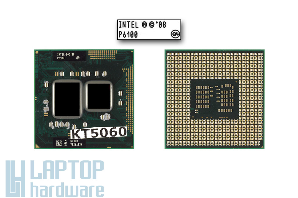 Intel Pentium Dual-Core P6100 2000 MHz használt laptop CPU (SLBUR)
