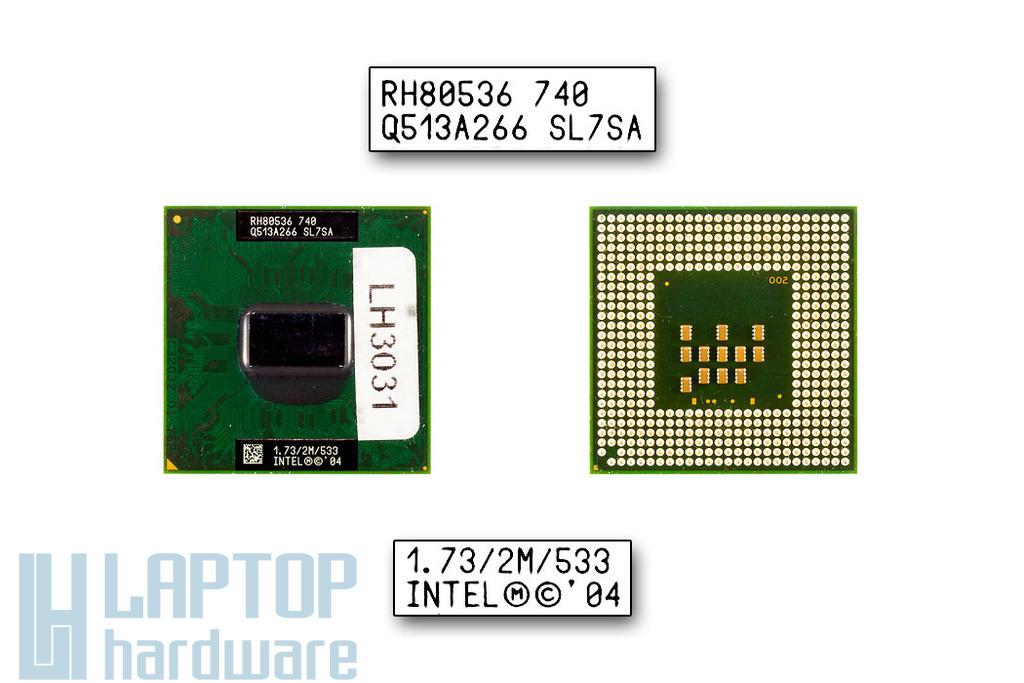 Intel Pentium M740 1730MHz használt laptop CPU (SL7SA)