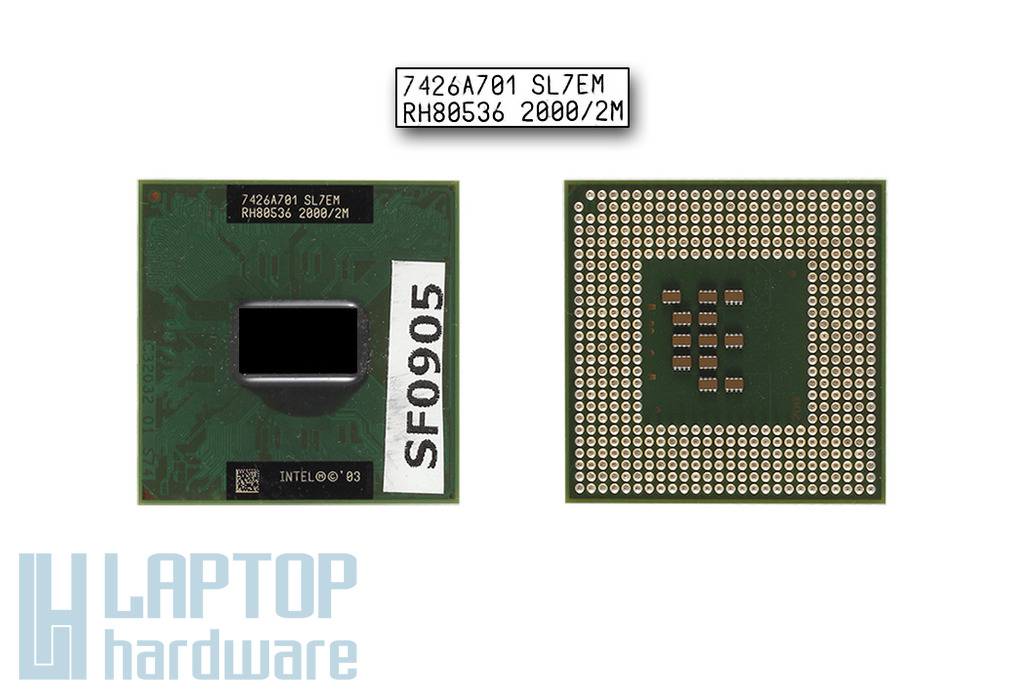 Intel Pentium M 755 2000MHz használt laptop CPU (SL7EM)