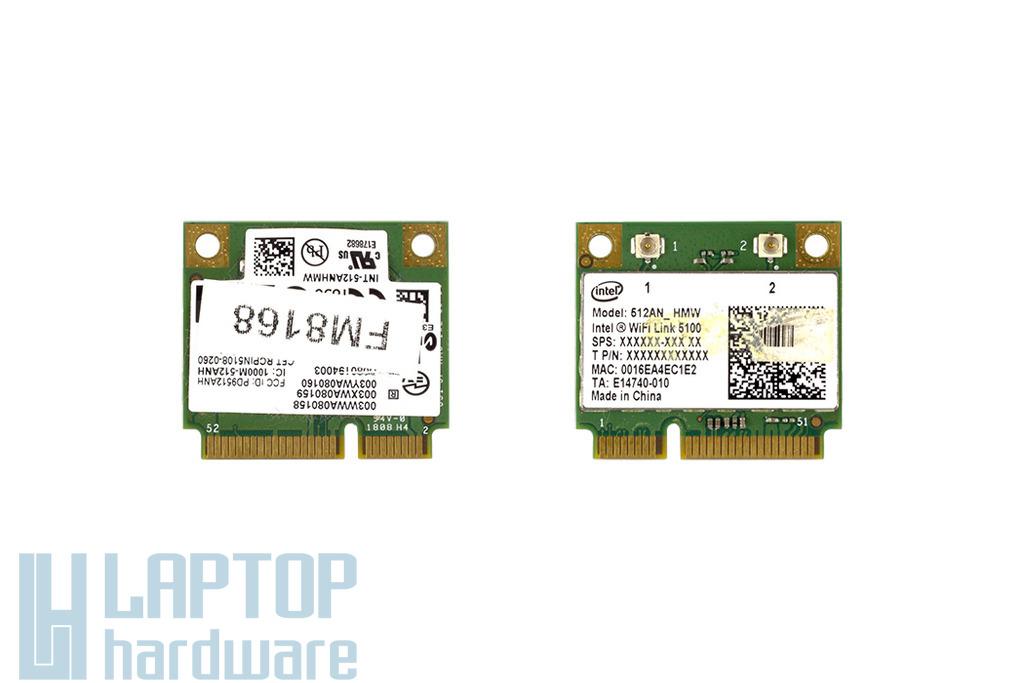 Intel WiFi Link 5100 használt Mini (half) PCI-e WiFi kártya (512AN_HMW)
