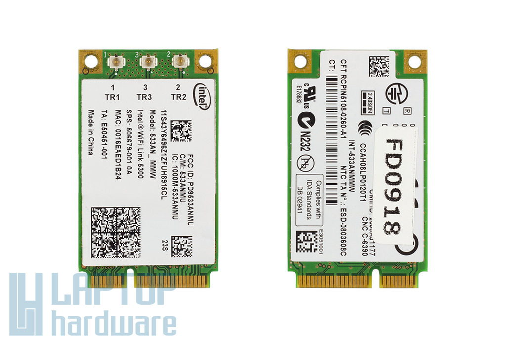 Intel WiFi Link 5300 használt Mini PCI-E WiFi kártya HP laptopokhoz (533AN_MMW, SPS: 506679-001)