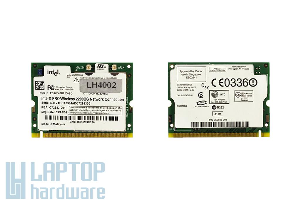 Intel WM3B2200BG használt Mini PCI laptop WiFi kártya