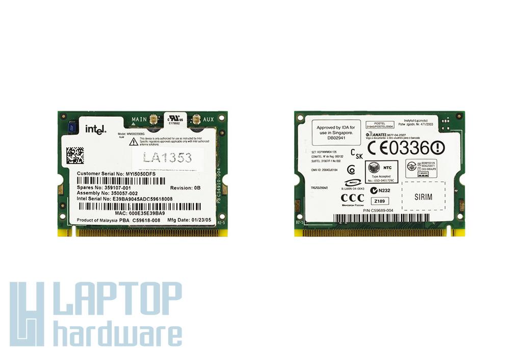 Intel WM3B2200BG használt Mini PCI WiFi kártya HP laptophoz (359107-001)