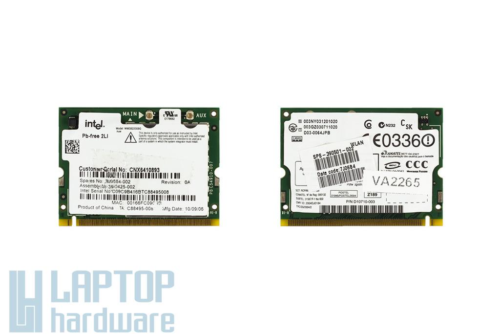 Intel WM3B2200BG használt Mini PCI WiFi kártya HP laptophoz (390501-002)