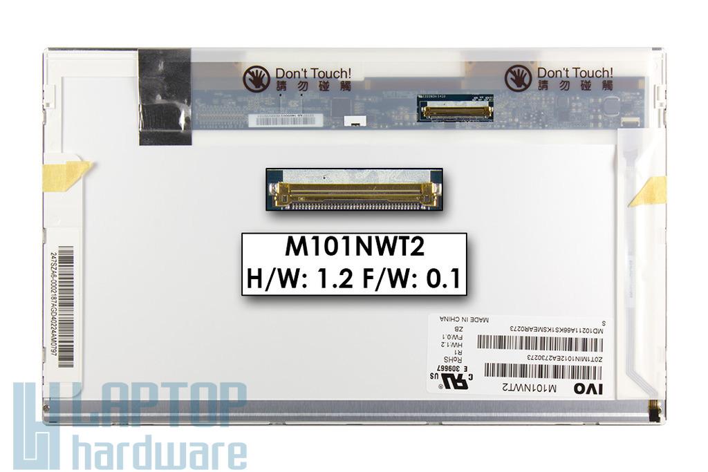 Gyári új fényes 10.1'' (1024x600) LED laptop/netbook kijelző (csatlakozó: 40 pin - bal)