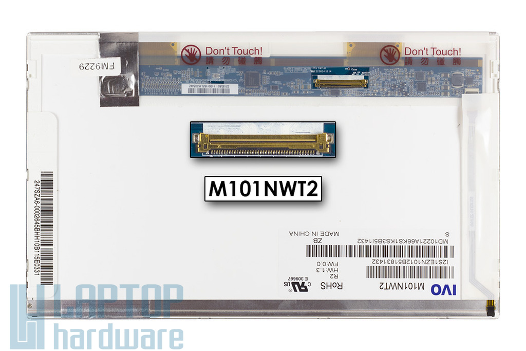 IVO M101NWT2 WSVGA 1024x600 használt matt netbook kijelző