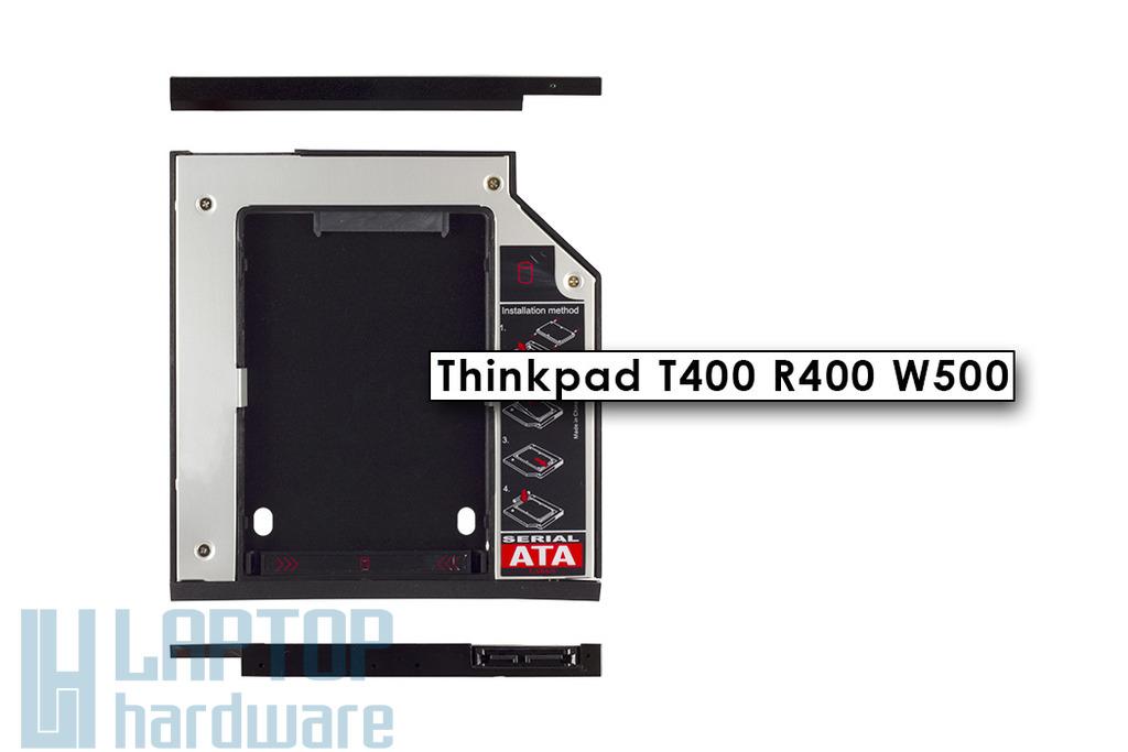 Lenovo Thinkpad T400, R400, W500 Winchester beépítő keret 9.5mm-es DVD meghajtó helyére