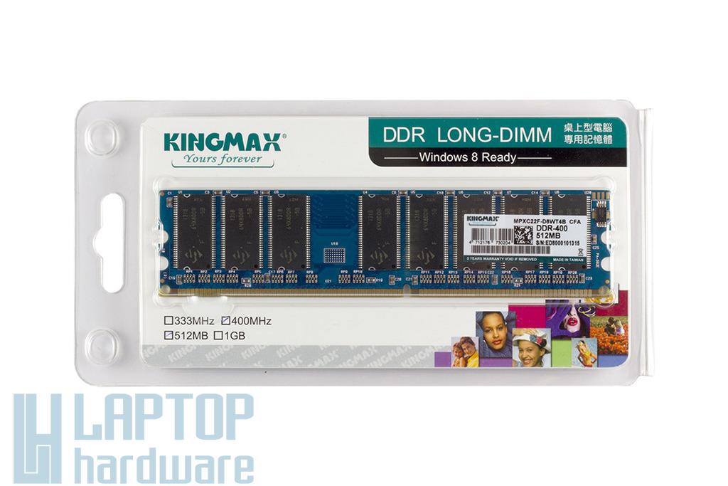 Kingmax gyári új 512MB DDR 400MHz Desktop RAM, MPXC22F-D8WT4B