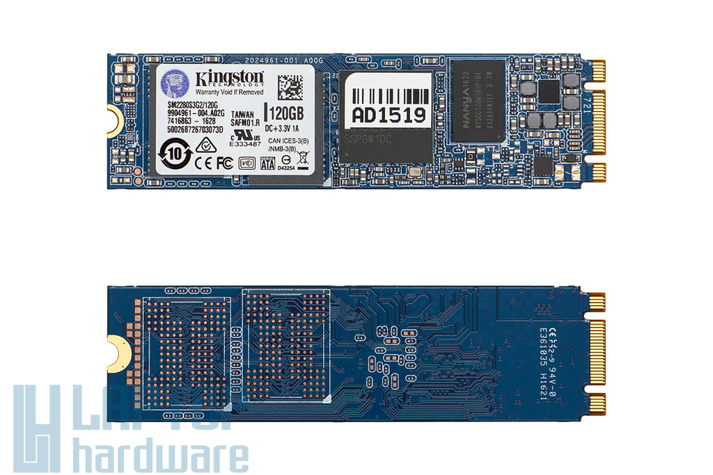 Kingston 120GB gyári új laptop M.2 SATA SSD kártya (SM2280S3G2/120G)