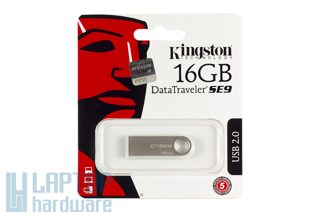Kingston DataTraveler SE9 DTSE9 16GB USB 2.0 ezüst pendrive (DTSE9H/16GB)