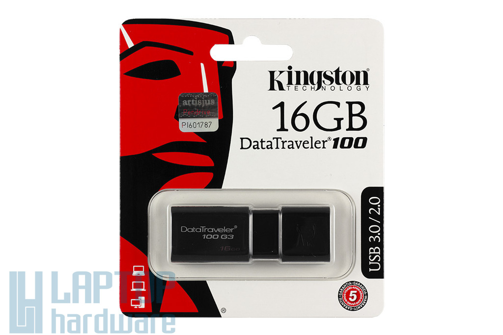 Kingston DT100 16GB fekete pendrive (DT100G3/16GB)
