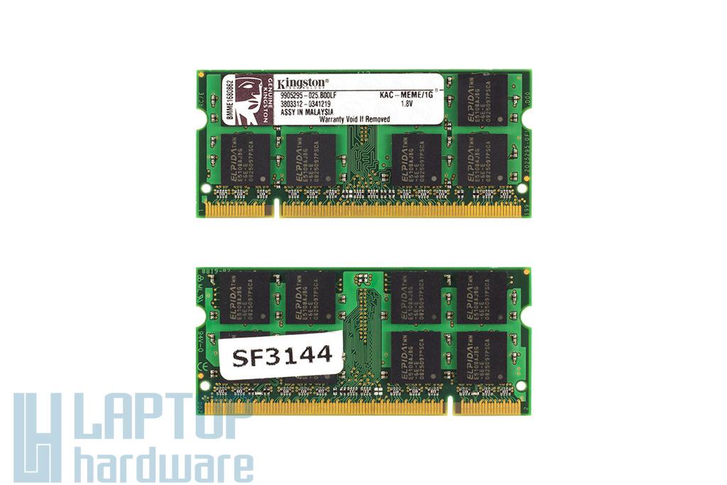 Kingston 1GB DDR2 533MHz használt memória Acer laptopokhoz