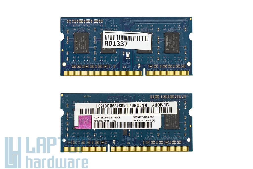 Kingston 1GB DDR3 1333MHz használt memória Acer laptopokhoz