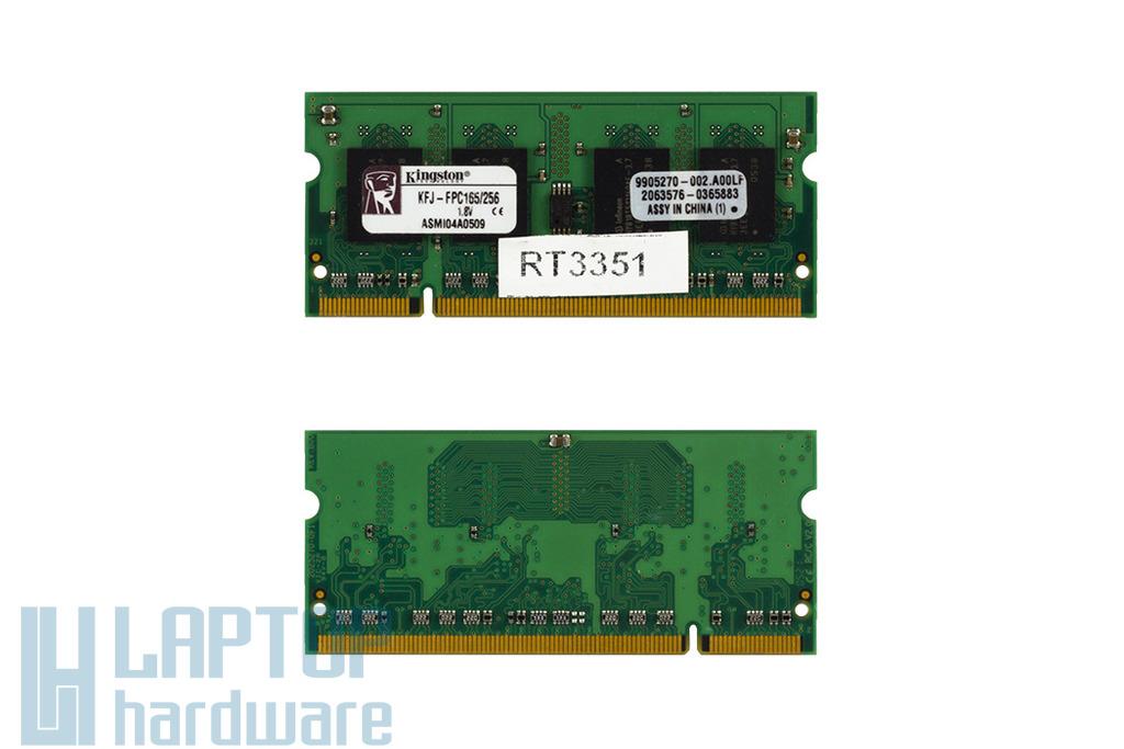 Kingston 256MB DDR2 533MHz használt laptop memória Fujitsu-Siemens laptopokhoz