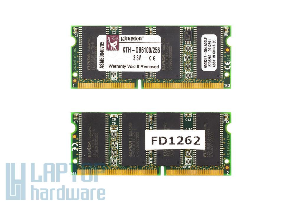 Kingston 256MB SDRAM 100MHz használt laptop memória