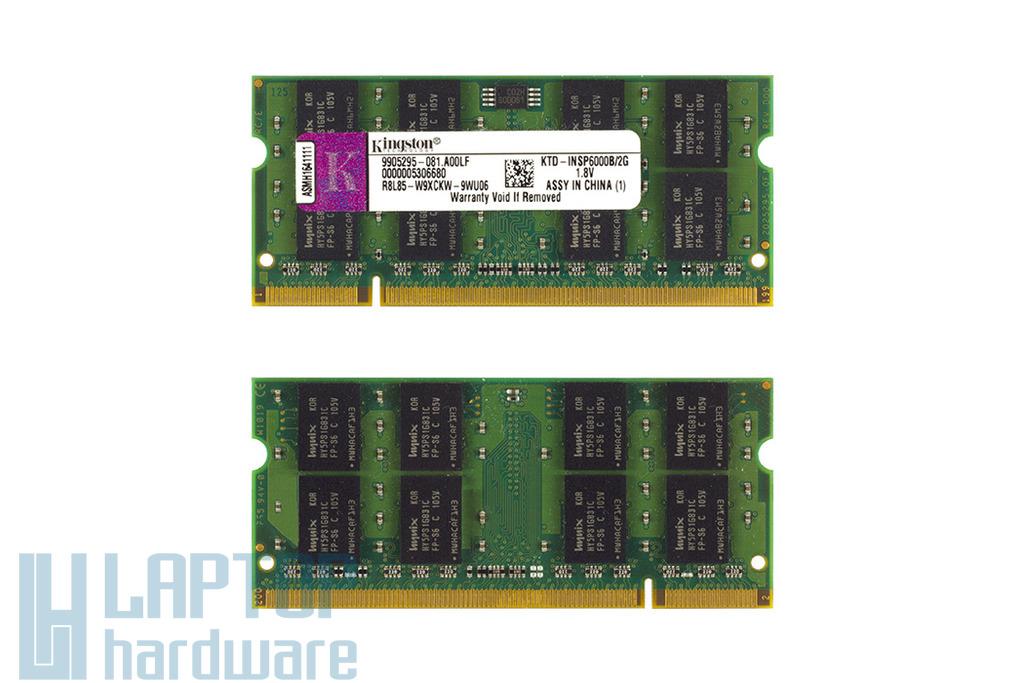 Kingston 2GB DDR2 667MHz használt memória Dell laptopokhoz
