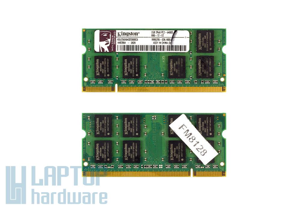 Kingston 2GB DDR2 800MHz használt laptop memória Asus laptopokhoz