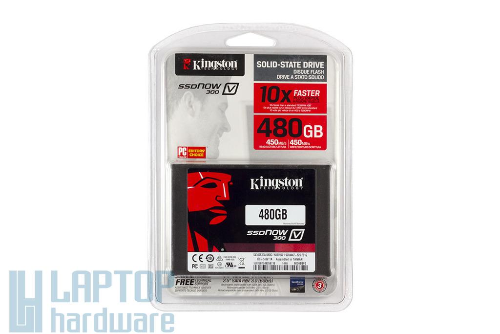 Kingston SSD Now V300 480GB (SV300S37A/480G) meghajtó | 3 év garancia! | Ingyenes beszereléssel!