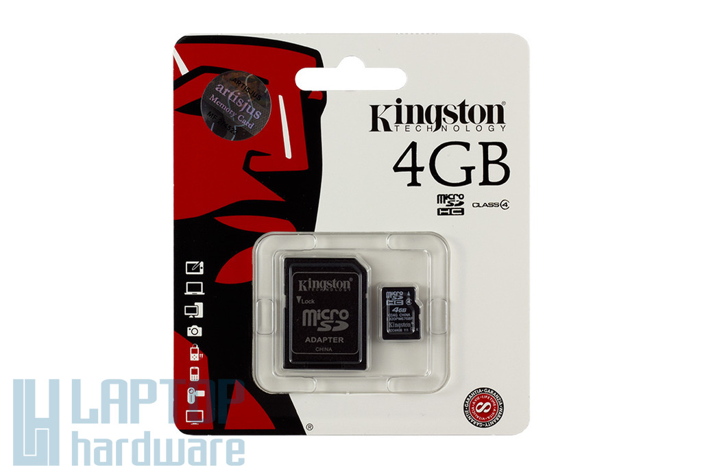 Kingston 4GB Class 4 MicroSD kártya + adapter (SDC4/4GB)