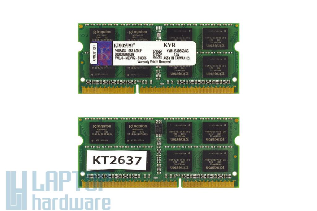 8GB DDR3 1333MHz használt laptop memória