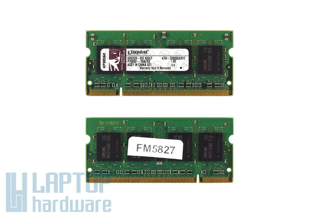 Kingston 512MB DDR2 533MHz használt memória HP laptopokhoz