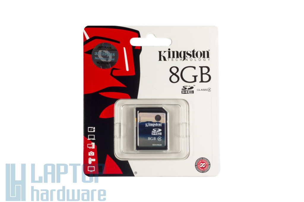 Kingston 8GB Class 4 SD kártya (SD4/8GB)